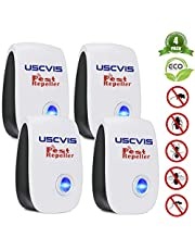 2020 Upgraded Pest Repeller Ultrasonic, Insect Repellent Plug In 4 Pack Mouse Repellent Indoor Electronic Pest Control, Anti Spider, Rats, Mosquito, Cockroaches, Ants, Wasps,100% Safe for Humans, Pets