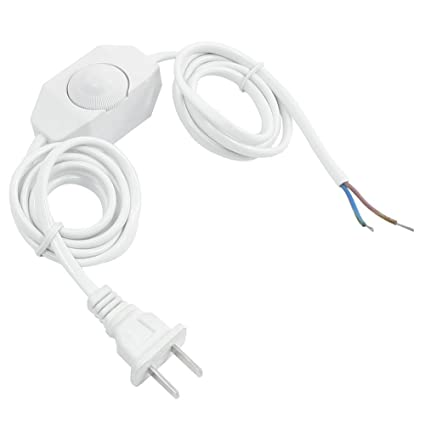 Dimmer Switch - SODIAL(R) White Lamp Power Cord w Dimmer Switch AC ...