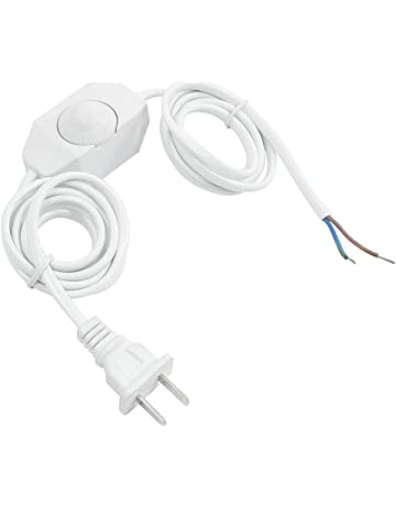Interruptor de regulador de intensidad - SODIAL(R) Cable de energia de lampara blanca