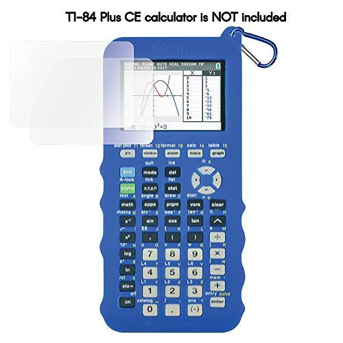 Silicone Case for Ti 84 Plus CE Calculator (Blue) - Cover for Texas Instruments Ti-84 Graphing Calculator - Silicon Skin for Ti84 Plus - Protective & Anti-Scretch Cases - Ti 84 Accessories by Sully (Ti84 Calculator Blue)
