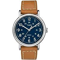 Timex Weekender 40mm reloj, talla única , Bronceado/Azul