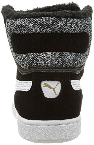 deportivas Vikky negro altas Schwarz 01 de mujer cuero Puma Puma black Mid Marl zapatillas white CX54qZw