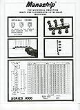 "Manastrip 1000-10 Six (6) Station Aluminum Manifold - NPT Ports 3/8"" x"