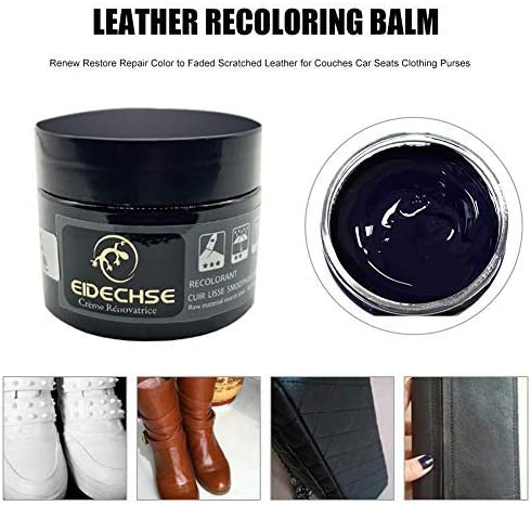 Repair Color Scratch Cracks Rips Faded Scratched for Leather Sofas Jacket Saddlery Leather Vinyl Repair and Recoloring Kit Bags Car Seats White Boot Leather Balm Shoes