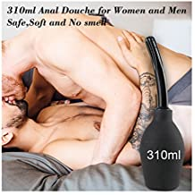 Anal Douche Soft Safe Enema Flush Bulb Medical Silicone Bulb Home Enema for Women and Men 310ml Large Capacity Cleaning Bulb for Anal and Vagina Douching Aids in Hygiene