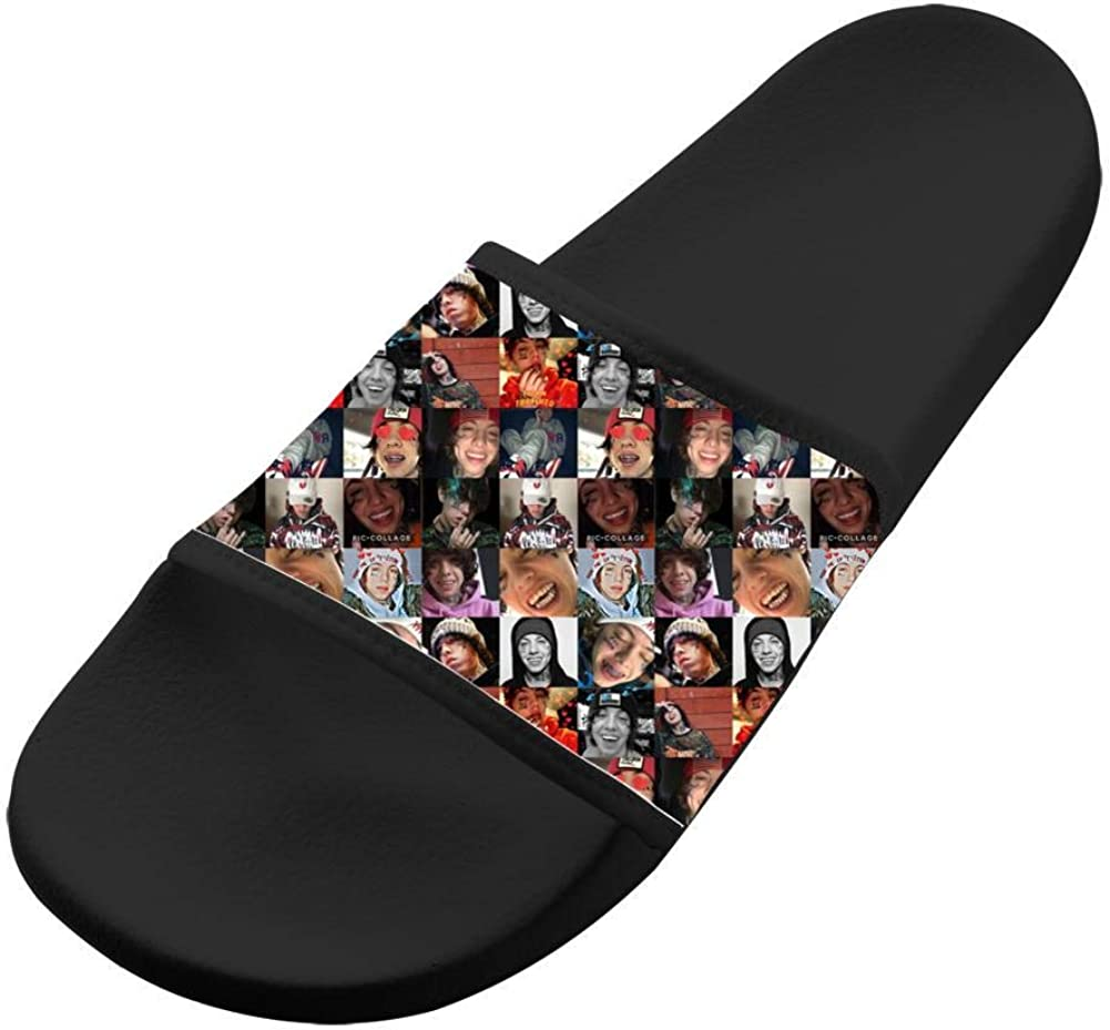Wide Upper Soft Slip-On Slide Lil Total Xanarchy Xan Slippers Beach Flat Slide Sandal for Men Womens