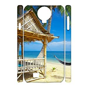 case Of Island Beach 3D Bumper Plastic Cell phone Case For Samsung Galaxy S4 i9500