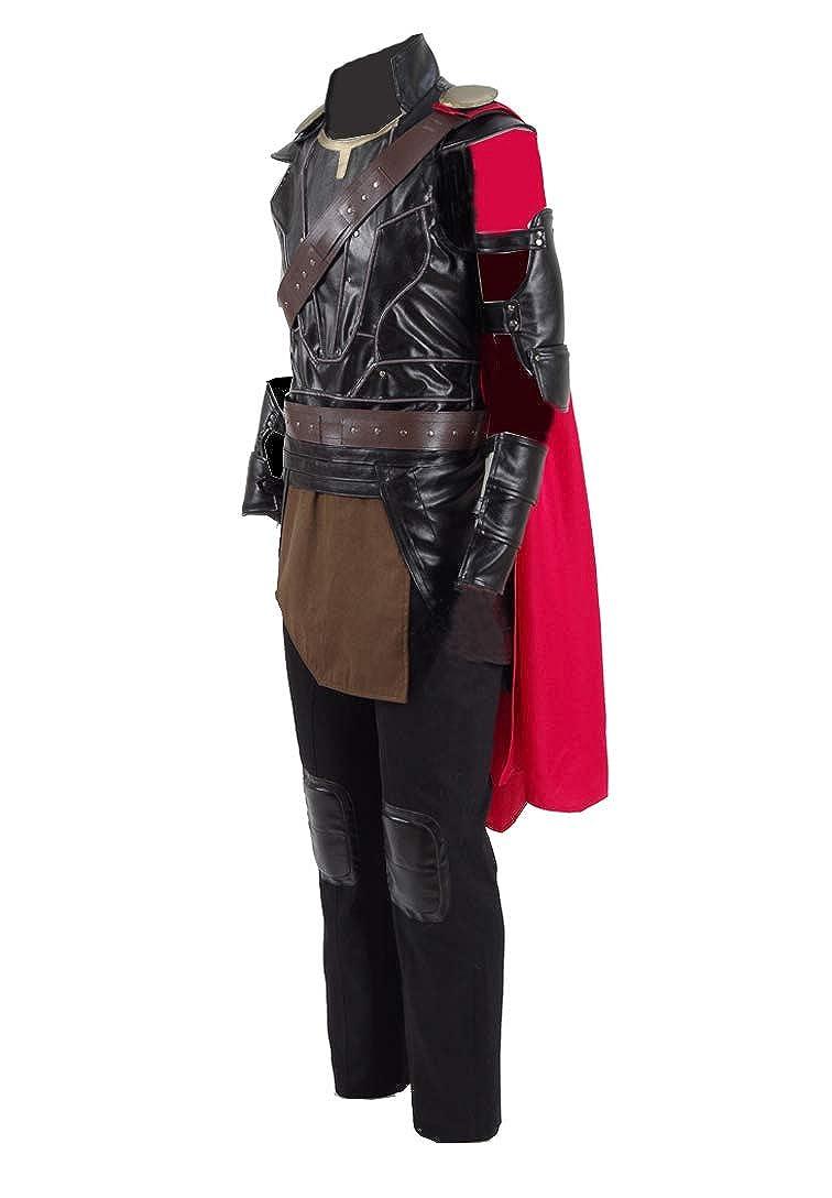 Braun Mass angefertigt Yewei Comic-Film Ragnrk Kostüm Herren Braun Halloween Comic Con Kostüm