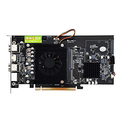 Widewing HM65 Motherboard Board DDR3 CPU 847 Dual-Core Mining 8 Card Memory Expansion Adapter Card ()