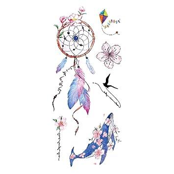 Pegatinas de tatuaje damas brazo flores dibujo acuarela pegatinas ...