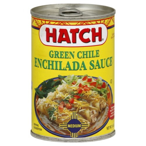 Hatch Green Chili Enchilada Sauce Medium, 15 -Oz. (Pack of 6)