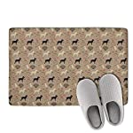 Unicorns Farting Non-Slip Indoor/Outdoor Doormat Border Collie Bone Dog Bathroom Rug Washable Super Cozy Velvet Floormat 7