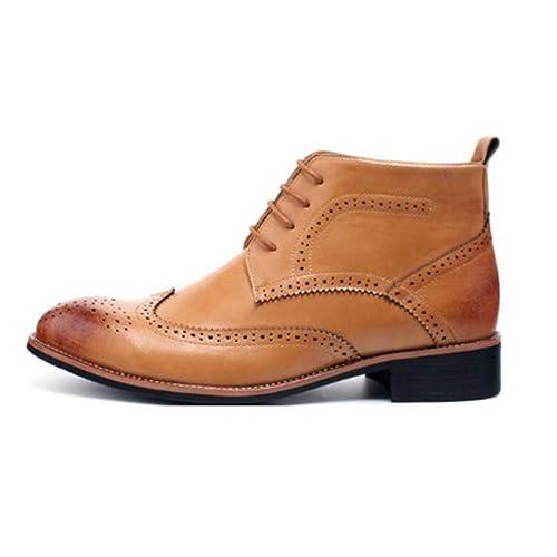 e5ce6258 Botas Chelsea para Hombre Botines De Cuero Brogue Zapatos Oxford De Camello  Zapatos De Vestir con Cordones para La Boda De Fiesta: Amazon.es: Zapatos y  ...