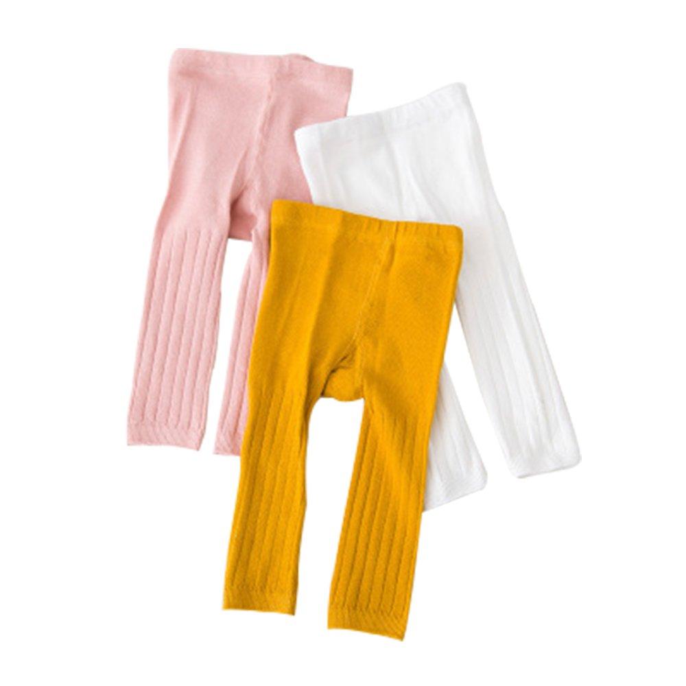 3pc/lot Bébé Leggings filles et garçons Cotton mélangé Pantalon tout-match de couleur unie, chaud et confortable