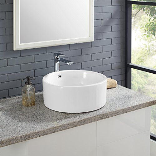 Vanity Madison Bathroom - Swiss Madison Monaco Round Vessel Sink