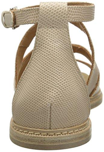 Aquatalia Womens Wenda Flat Sandal Castoro Lizard/Powder Calf DXl9gKl0t