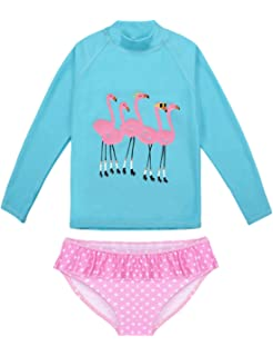 KONFA 3 Pieces Swimsuit Toddler Baby Girls Bikini Set Swimwear Off-Shoulder Halter Tops+Shorts+Headband Tankini Bathing Suit