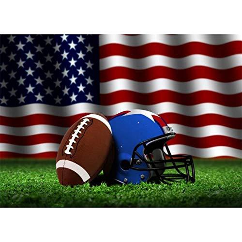 CNIAO Diamond Painting Full Square/Round Drill NFL Team Logo American Football Team Helmet Logo Sport Man Crystal Cross Stitch-40x50cm ()
