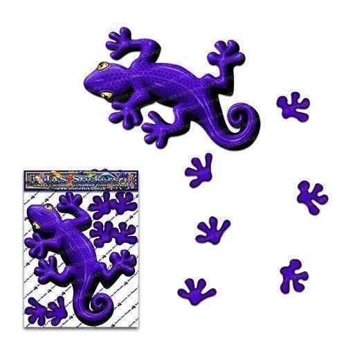 Autoadesivo dell'automobile animale viola di Gecko per i camion di automobile di camion - ST00031PL_SML - JAS Adesivi