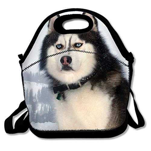 Premium Insulated Lunch Bag with Shoulder Strap Serious Husky Lunch Box