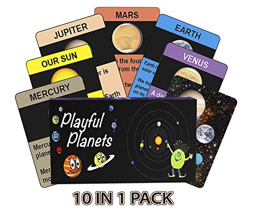 Playful Planets Classic Card Games for Kids Age- Educational Space Games for Kids Age 4-8 - Old Maid, Go Fish, Bingo, Memory with A Planetary Twist! 10 Games in 1 Fun Pack!
