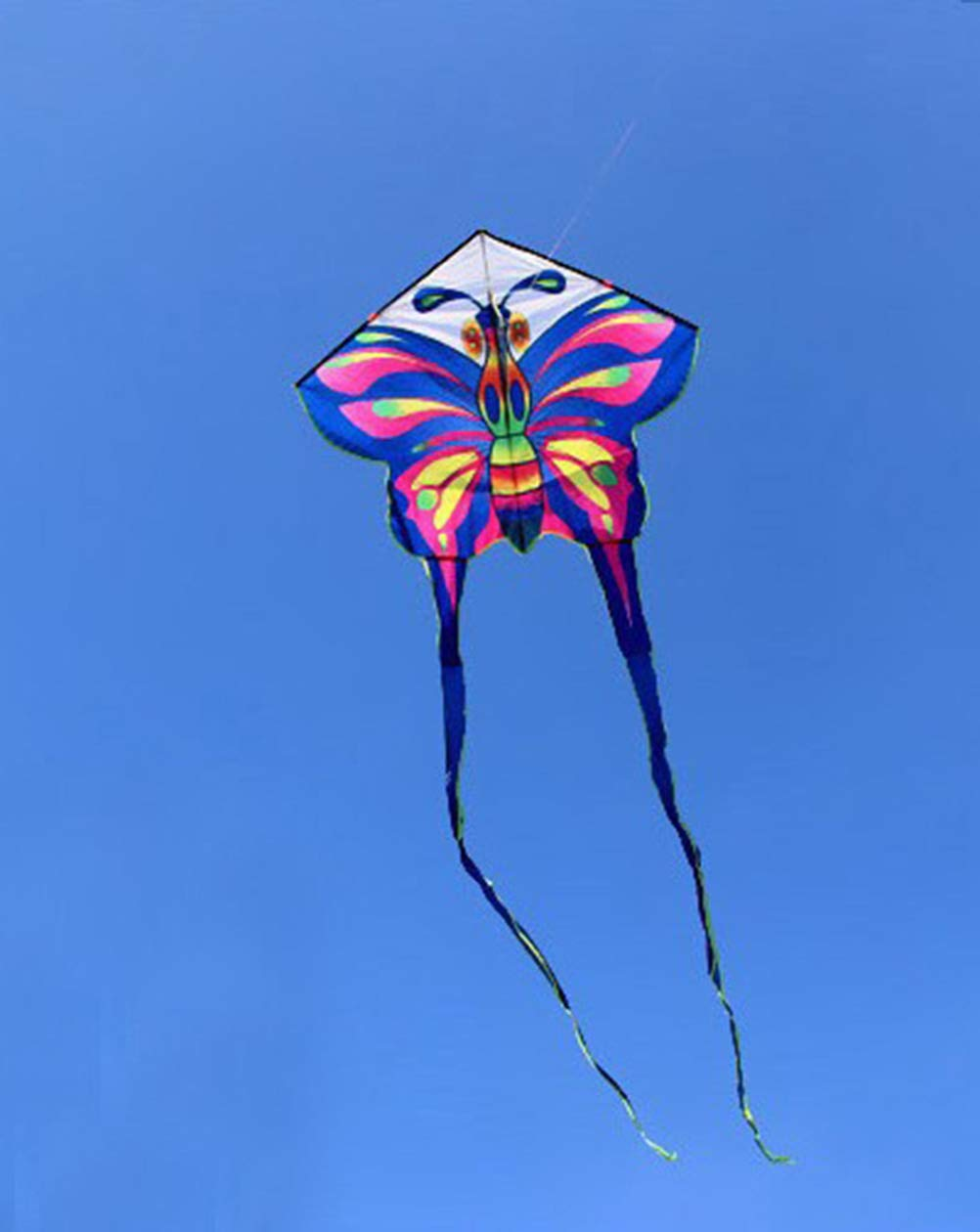 BLU Mayco Bell Cometas de Larga Cola Mariposa Cometa con manija l/ínea ni/ños Volando al Aire Libre Juguetes