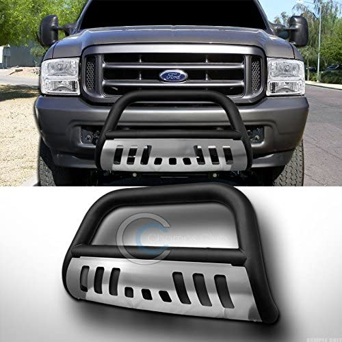 HS Power Matte Black HD Heavy Duty Steel Bull Bar for Ford F250//00-05 Excursion 1999-2007 Superduty Brush Push Front Bumper Grill Grille Guard with Stainless Steel Skid