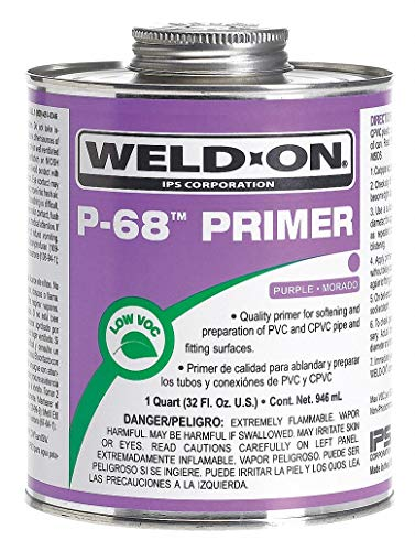Weld-On 13991 - Primer Purple 32 Oz PVC and CPVC Pack of 2