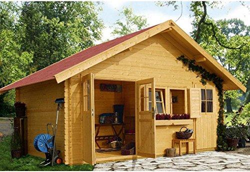 Woodfeeling Gartenhaus Radur 0 28 mm 2-Raum-Haus