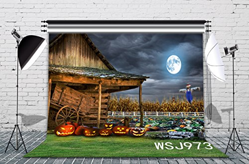 LB 7x5ft The Field Of The Halloween Vinyl Photography Backdrop Customized Studio Background Photo Backdrops Studio Props (Fotos Do Halloween)