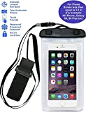iEasye Waterproof Case Bag Pouch for Apple iPhone 6, 6 Plus, 5s, 5c, 5, Samsung Galaxy S6, S5, S4, Samsung Note 4, Note 3 - White
