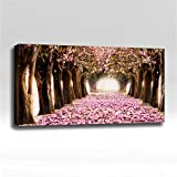 Cherry Blossoms - Ready Made 4'x2'x2'' Acoustic Art Panel : Includes all Mounting Hardware.