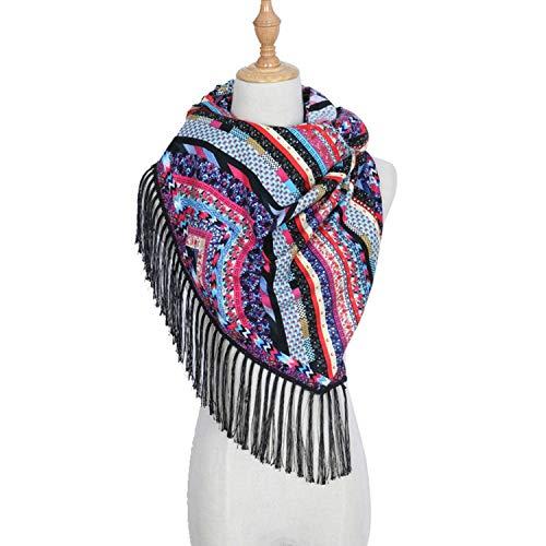 200cm inverno per lavorato maglia a Cotton Amdxd l'autunno Scarf Twill nero Women URx8wgUv0q