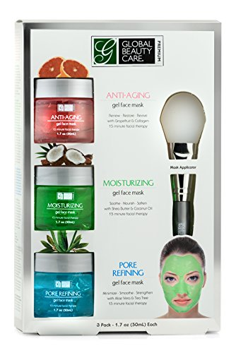 Anti-Aging, Moisturizing, Pore Refining Gel Face Mask with Applicator