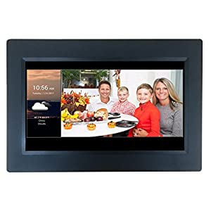 "[LATEST UPDATE] 10"" Smart WiFi Cloud Digital Photo Frame with Touchscreen - includes 5GB free Cloud storage, iPhone & Android APP, Facebook, Dropbox, Real-time photos, Movie Playback"