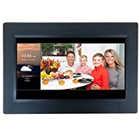 [LATEST UPDATE] 10 Smart WiFi Cloud Digital Photo Frame with Touchscreen - includes 5GB free Cloud storage, iPhone & Android APP, Facebook, Dropbox, Real-time photos, Movie Playback