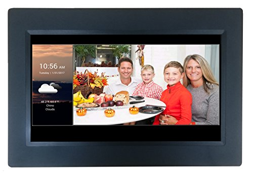 [LATEST UPDATE] 10″ Smart WiFi Cloud Digital Photo Frame with Touchscreen – includes 5GB free Cloud storage, iPhone & Android APP, Facebook, Dropbox, Real-time photos, Movie Playback