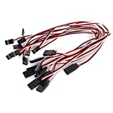 Foxnovo 32cm 3-pin Male to Female Remote Control Servo Extension Lead Wire Cable - 10 pcs