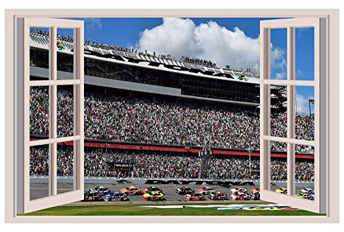 2016 NASCAR Sprint Cup 3D Window View Decal Graphic WALL STICKER Art Mural. Self adhesive Graphic Art - Cup Sprint