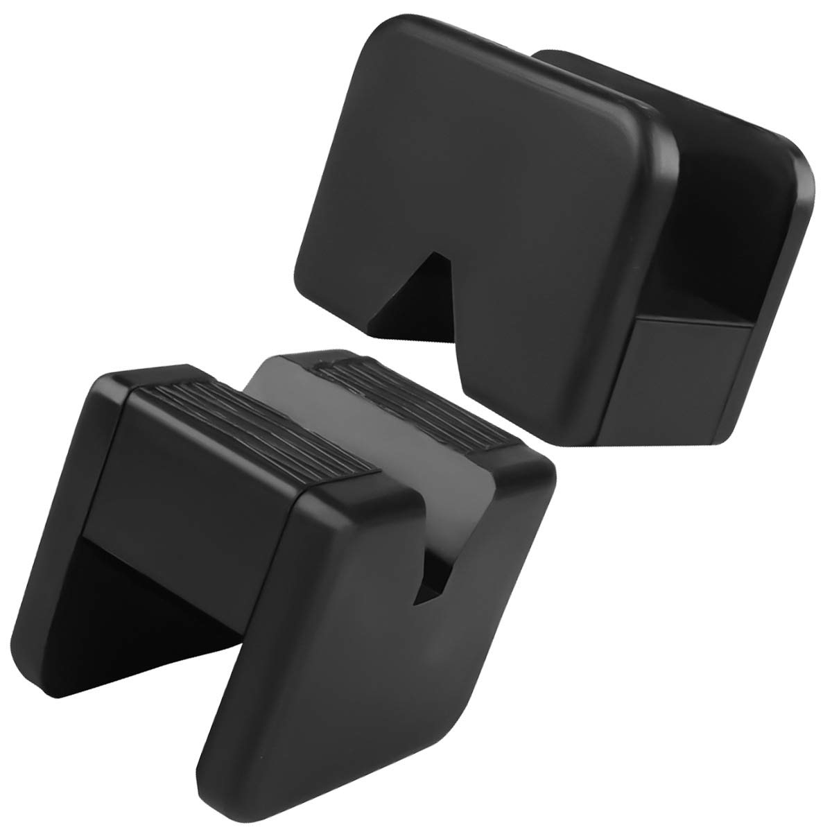 Tampone in Gomma per Cric Sollevatore Auto Ponte con Scanalatura Spessori per Cric Evitano Graffi Danni Resistente Universale Jack Pad Confezione da 2