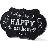 "Jozie B 240017"" Why Limit Happy Chalkboard Look Tabletop Plaque, 8"" x 5"""