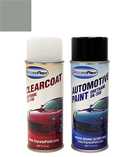 ColorRite Aerosol Automotive Touch-up Paint for Mazda Miata - Silver Stone Metallic Clearcoat 3L/4G - Color+Clearcoat Package