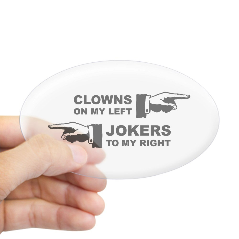 Amazon com cafepress clowns jokers oval bumper sticker euro oval car decal home kitchen