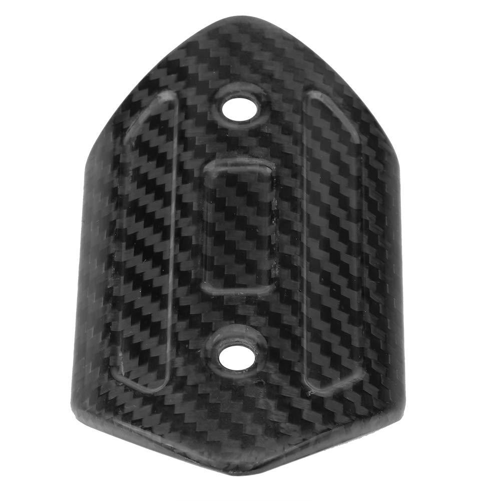 Qiilu Motorrad Auspuff Muffer Mitte Rohr Kleinen Carbon Faser Heat Shield Displayschutzfolie Cover Fersenschutz