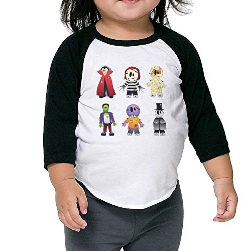 Halloween Costume New York's Village Halloween Parade Clip Art - Halloween Transparent Creepy Collection Kids Raglan T Shirts Baseball 3/4 Sleeves for Boys Girls3 -
