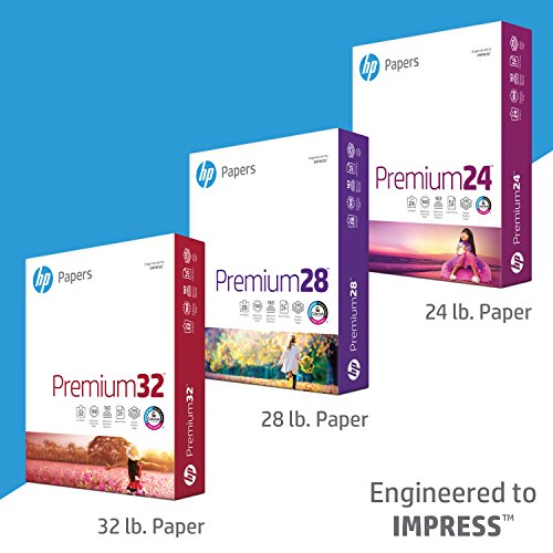 HP Printer Paper, Premium24, 8.5 x 11 Paper, Letter Size, 24lb Paper, 98 Bright, 5 Reams / 2,500 Sheets, Presentation Paper, Acid Free Paper (115300C) by HP Paper (Image #4)