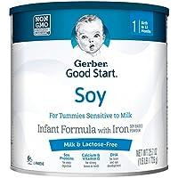 Fórmula infantil en polvo para niños no OGM de Good Start de Gerber, etapa 1, 25,7 onzas