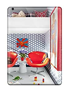 For Ipad Air Protector Case Boy8217s Bedroom With Red Chairs Blue 038 White Walls And Red Accents Phone Cover