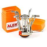 Cheap The Alert Zone Compact Ultralight Portable Outdoor Backpacking Camping Stove with Piezo Ignition Orange