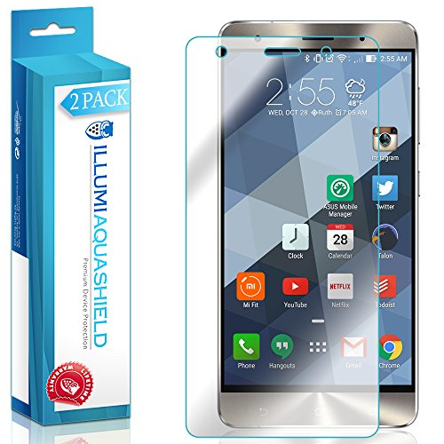 ILLUMI AquaShield Screen Protector Compatible with Asus Zenfone 3 Deluxe (5.7-inch)(2-Pack) No-Bubble High Definition Clear Flexible TPU Film ()